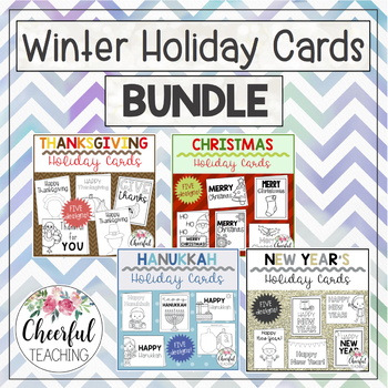Winter Holiday Cards BUNDLE