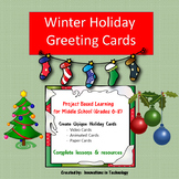 Winter Holiday / Christmas Cards: Video, eCard, Paper  | Distance Learning