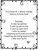 Winter Holiday Centers Activity Pack