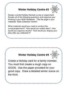 Winter Holiday Centres