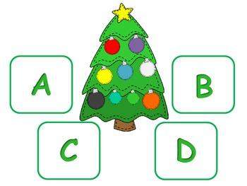 Winter Holiday:  Christmas Alphabet Match; Autism; KDG; Pre-k; Special Education