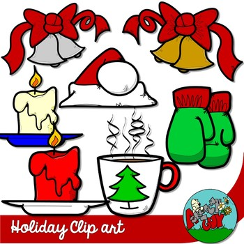 Winter Holiday / Christmas Clipart with Accessories