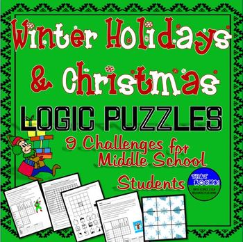 winter holiday christmas fun seven logic puzzles for middle school. Black Bedroom Furniture Sets. Home Design Ideas