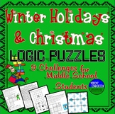 Winter Holiday & Christmas Fun- Seven Logic Puzzles for Middle School