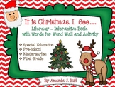 Winter Holiday:  Christmas Literacy: Interactive Book; Special Ed.; Autism; KDG