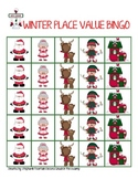 Winter Holiday Christmas Place Value Bingo
