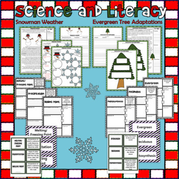 Winter Holiday & Christmas Science and Literacy Activity Set