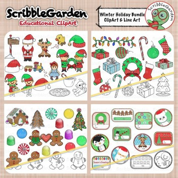 Winter Holiday ClipArt Bundle