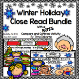 Winter Holiday Close Read Bundle With Bonus Compare and Contrast