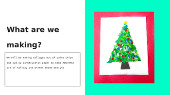 Winter & Holiday Collage PowerPoint Art Project