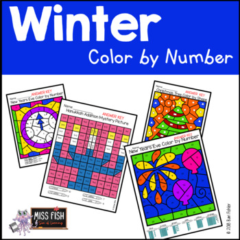 Winter Holiday Color by Number (December & January)