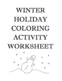 Winter Holiday Coloring Activity Worksheet