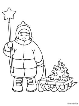Winter Holiday Coloring Sheets 2