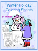 Winter Holiday Coloring Sheets