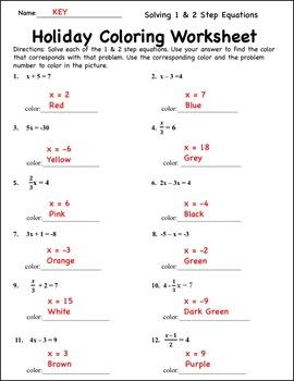 Christmas Algebraic Expressions and Equations {Pre Algebra Math Christmas}