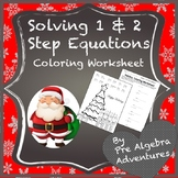 Solving Equations Christmas Coloring Activity {Pre Algebra Christmas Activity}