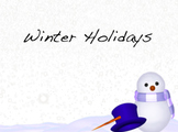 Winter Holiday Comparison: Reading and Expository Writing