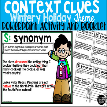 Winter Holiday Context Clues PowerPoint Activity and Booklet