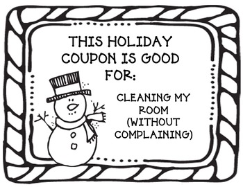 Winter Holiday Coupon Book 2: A Fun and Easy Gift