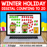 Winter Holiday Digital Counting to 20 for Google and Seesaw