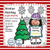 Winter Holiday Dolch Pre Primer and Primer SAMPLER