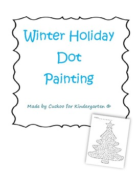 Winter Holiday Dot Painting