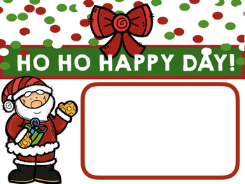 Winter Holiday EDITABLE Morning Announcements