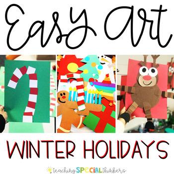 Winter Holiday Easy Art: Adapted Art Activities