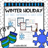 Winter Holiday Editable Class Letter & Gift Tags
