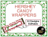 Winter Holiday Editable Hershey Candy Bar Wrappers