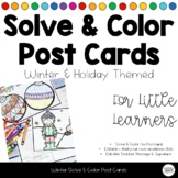 Winter Holiday Editable Post Cards - Classroom Community Relationships