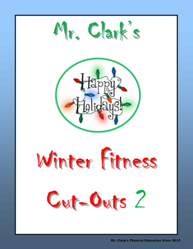 Winter Holiday Fitness Cut-Outs 2