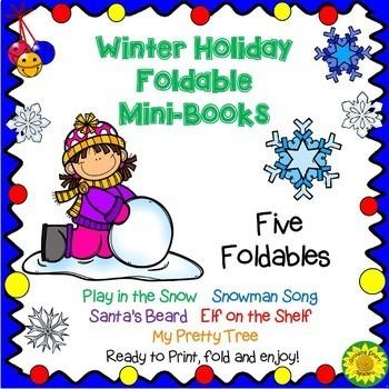 Winter Holiday Foldable Mini Books