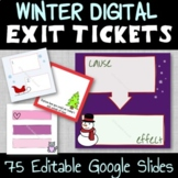Winter Holiday Fun Digital Exit Tickets - Distance Learnin