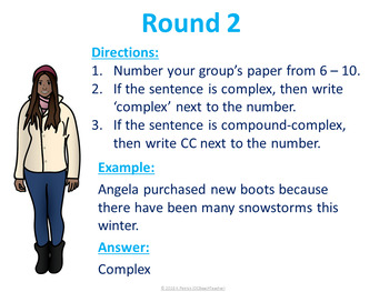 Winter Holiday Fun!  Sentence Structures Trashketball Game
