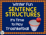 Free Sentence Structures Trashketball Game