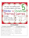 Use Your Own Word List with these Winter Holiday Games
