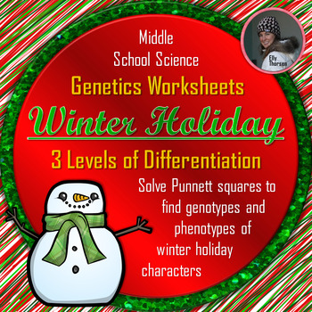 Winter Holiday Genotype and Phenotype Punnett Square Differentiated Worksheets