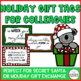 Winter Holiday Gift Tag; Assistant, Paraprofessional, Coworker