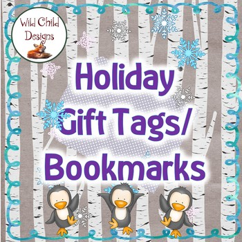 Winter Holiday Gift Tags for Classroom & Home