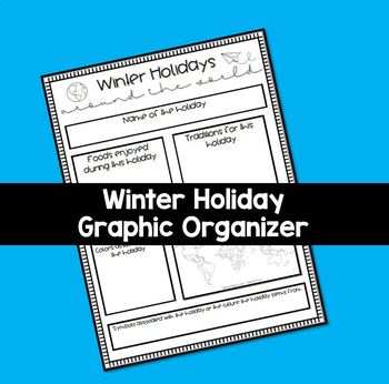 Winter Holiday Graphic Organizer