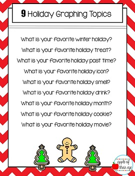 Winter Holiday Graphing Activity CCSS Aligned