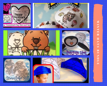 Winter Holiday Hats  (Winter Activities and Winter Crafts)