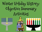 Winter Holiday History Objective Summary Activities