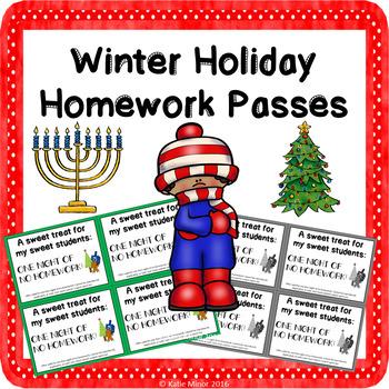 Winter Holiday Homework Passes!