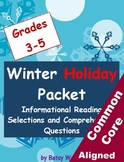 Winter Holiday Informational Reading Selections and Questions for Grades 3-5