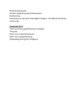 Winter Holiday Informative Writing: Christmas, Hanukkah, and Kwanzaa