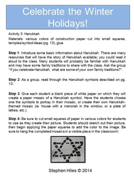Winter Holiday Lesson Plans: Grades 3-5