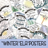 Winter Holiday Literary Device Posters: Winter Christmas Holiday ELA Cheer!