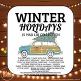 Winter Holiday Mad lib Collection  * 15 Google Slides & Printables *